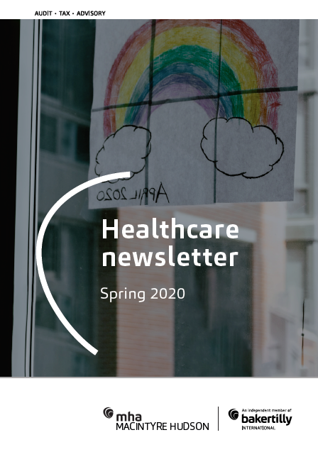Healthcare newsletter Spring 2020