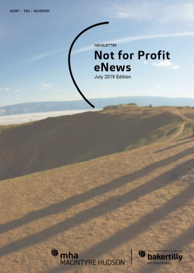 Not for Profit eNews July 2019